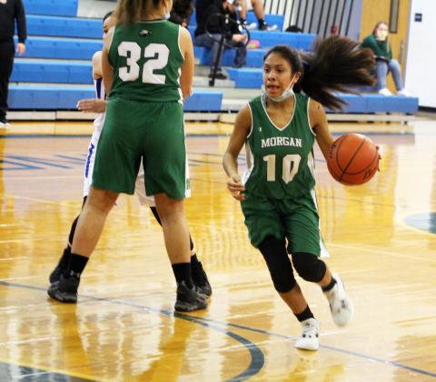 Forrest Murphy/Clifton Record/Morgan junior Nia Aviles (10) finished with a team-high 16 points versus Walnut Springs Friday.