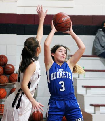 Forrest Murphy/Clifton Record/The Walnut Springs Lady Hornets defeated the Kopperl Lady Eagles, 29-23 Tuesday.
