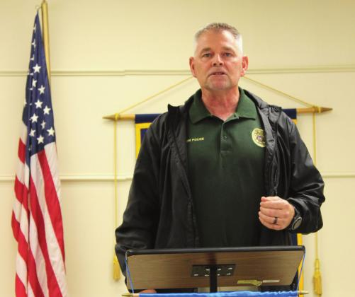 Clifton's new police chief, Mark Leger, was the guest speaker at last Thursday's Rotary luncheon meeting. Leger brings with him a wealth of knowledge and years of experience in law enforcement. Ashley Barner | The Clifton Record
